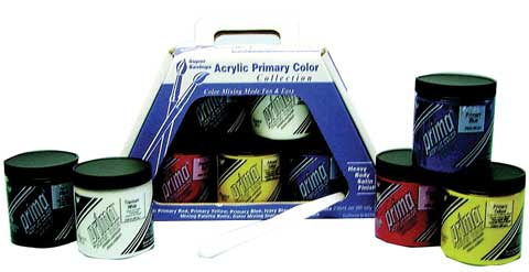 Prima Acrylic Primary Color Set