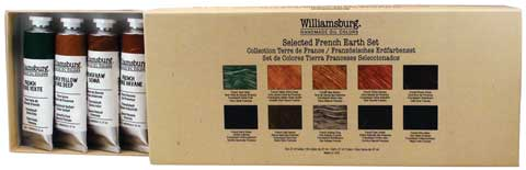 Williamsburg Handmade Oil Colors Selected French Earth Set