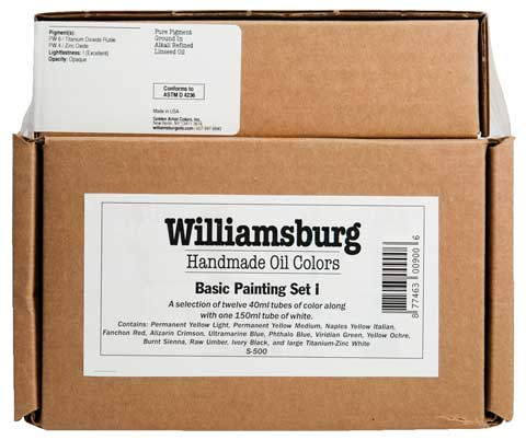 Williamsburg Handmade Oil Colors Basic Painting Sets