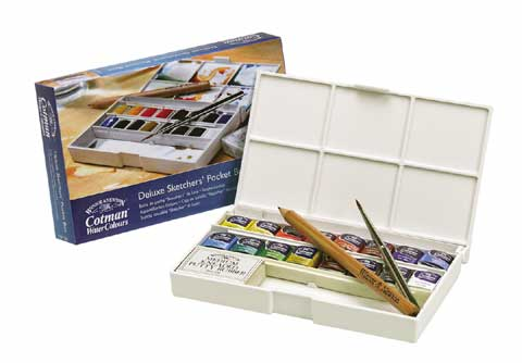 Cotman Watercolor Deluxe Pocket Box