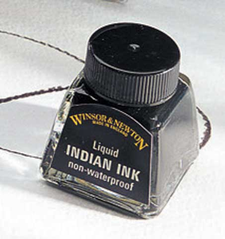Liquid Indian Ink- Non-Waterproof