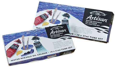 Artisan Water Mixable Oils - 10-Color Sets