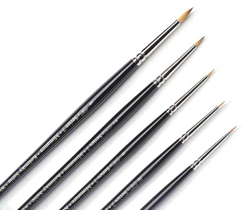Series 7 Miniature Painting Brushes
