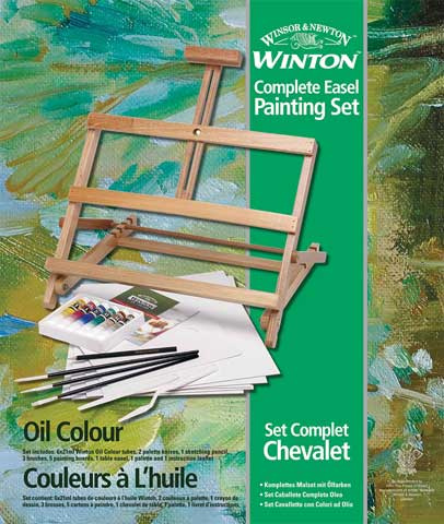 Winton Oil Painting Set with Table Top Easel